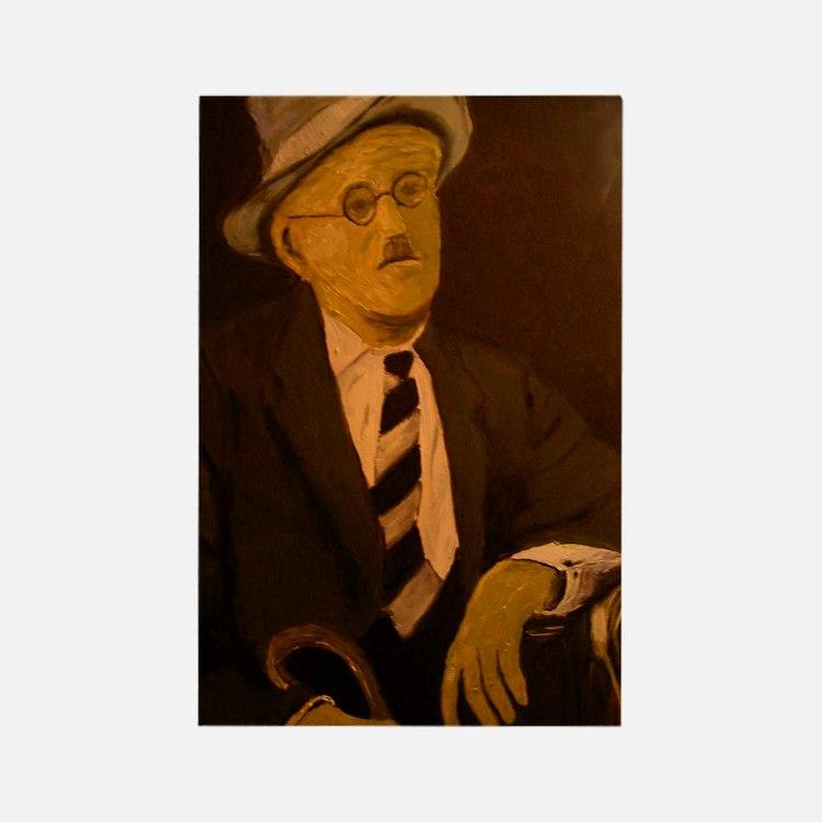 James Joyce Rectangle Magnet