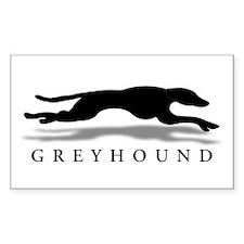 Greyhound Rectangle Decal