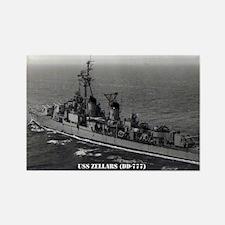 USS ZELLARS Rectangle Magnet