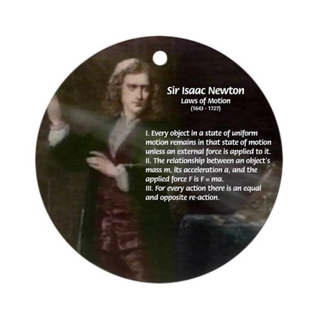 Isaac Newton Laws Motion Ornament (Round)