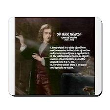 Isaac Newton Laws Motion Mousepad