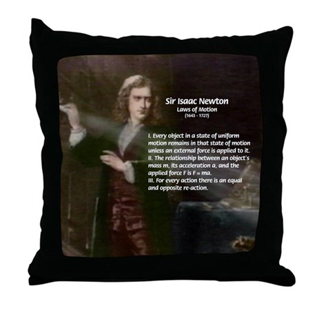 Isaac Newton Laws Motion Throw Pillow