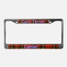 Kilted Cairn Terriers License Plate Frame