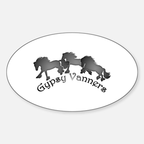 Gypsy Silhouettes Sticker (Oval)