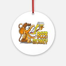 Beer Monkey @ eShirtLabs.Com Ornament (Round)