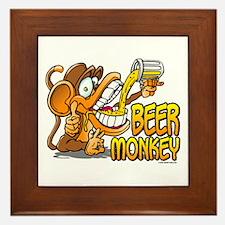 Beer Monkey @ eShirtLabs.Com Framed Tile