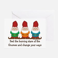 Burning Stare of The Gnomes Greeting Card