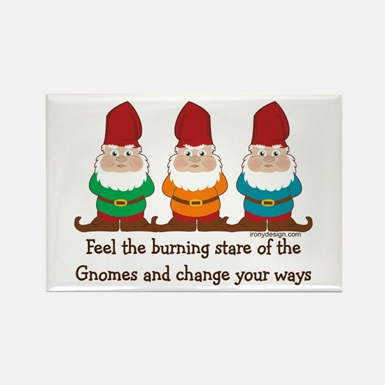 Burning Stare of The Gnomes Rectangle Magnet