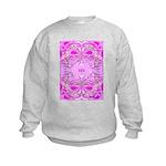 Pink Butterflies Kids Sweatshirt