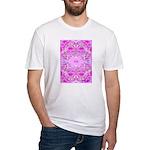 Pink Butterflies Fitted T-Shirt