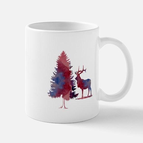 Deer and tree Mugs