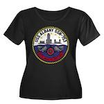 USS ALBANY Women's Plus Size Scoop Neck Dark T-Shi