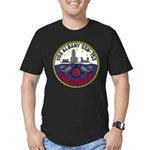 USS ALBANY Men's Fitted T-Shirt (dark)