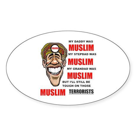 BARACK HUSSEIN Sticker (Oval)