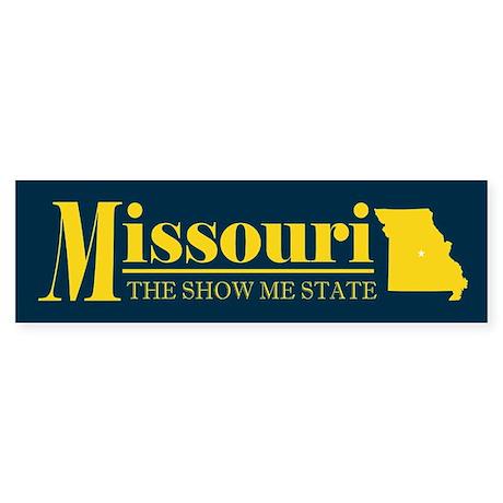 Missouri Gold Sticker (Bumper)