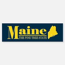 Maine Gold Bumper Bumper Sticker