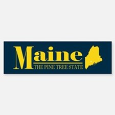 Maine Gold Sticker (Bumper)