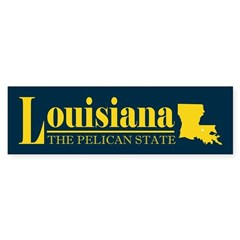 Louisiana Gold Bumper Sticker