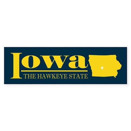 Iowa Gold Sticker (Bumper)