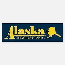 Alaska Gold Bumper Bumper Sticker