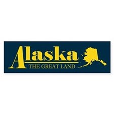 Alaska Gold Bumper Sticker