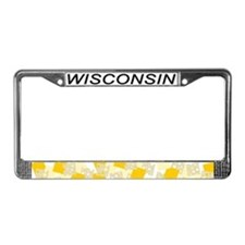 WI License Plate Frame