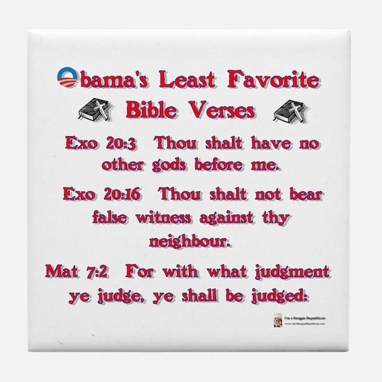 Bible Verses Tile Coaster
