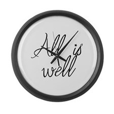 All is well Large Wall Clock
