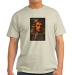 Sir Isaac Newton Space Ash Grey T-Shirt