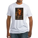 Sir Isaac Newton Space Fitted T-Shirt