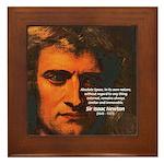 Sir Isaac Newton Space Framed Tile