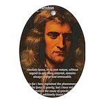 Sir Isaac Newton Space Oval Ornament