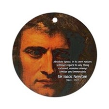 Sir Isaac Newton Space Ornament (Round)