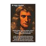 Sir Isaac Newton Space Mini Poster Print