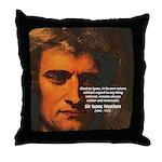 Sir Isaac Newton Space Throw Pillow