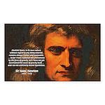 Sir Isaac Newton Space Rectangle Sticker