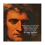 Sir Isaac Newton Space Tile Coaster