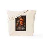 Sir Isaac Newton Space Tote Bag