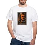 Sir Isaac Newton Space White T-Shirt