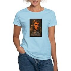 Sir Isaac Newton Space Women's Pink T-Shirt