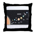 Car Keys Lost In Space Throw Pillow