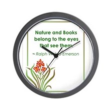 Nature and Books Wall Clock