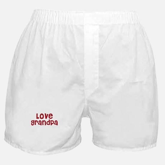 Love Grandpa Boxer Shorts