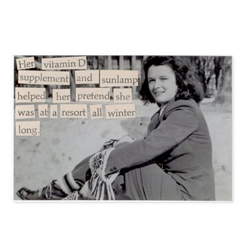 Freezing cold winters Postcards (Package of 8)
