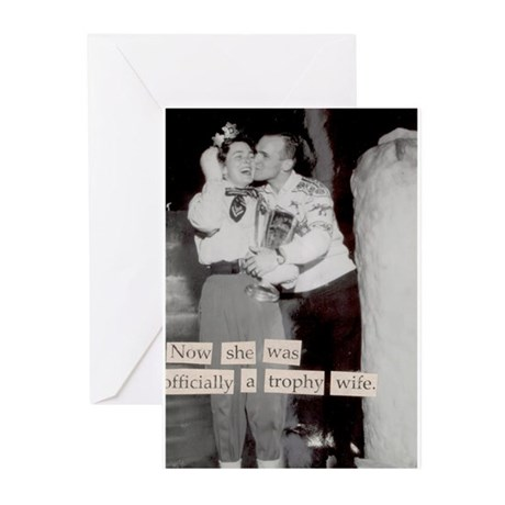 Trophy wife Greeting Cards (Pk of 20)