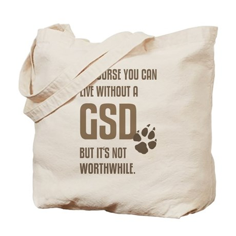 without GSD brown Tote Bag