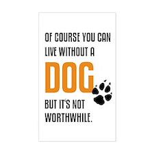 without dog black orange Decal
