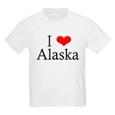 I Heart Alaska Kids T-Shirt