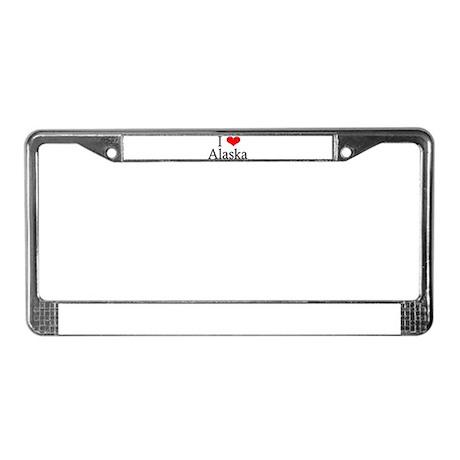 I Heart Alaska License Plate Frame