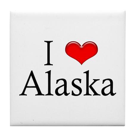 I Heart Alaska Tile Coaster